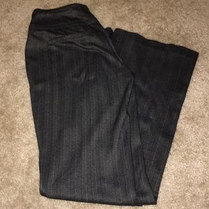 High-Waisted Gray pinstripe Work Pants